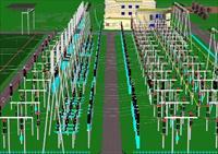 变电站设计3DMAX精细字体店书法模型设计图片