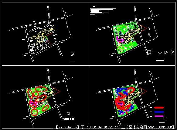 定鼎园林 园林方案设计 公园景观 东山公园规划设计图; 衡阳南湖公园