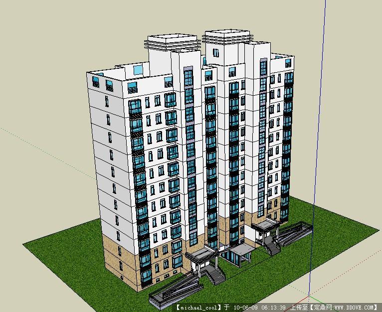 小高层建筑方法及完整CAD模型cad建模图纸思路的和图片