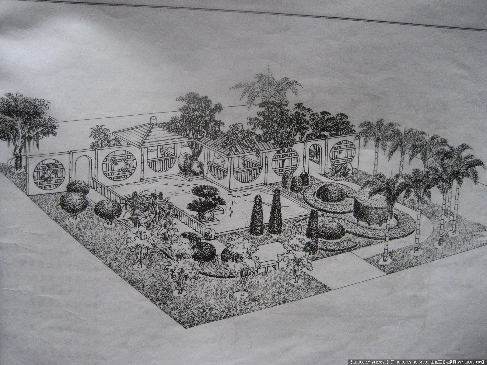 别墅庭院园林设计图纸《平面图