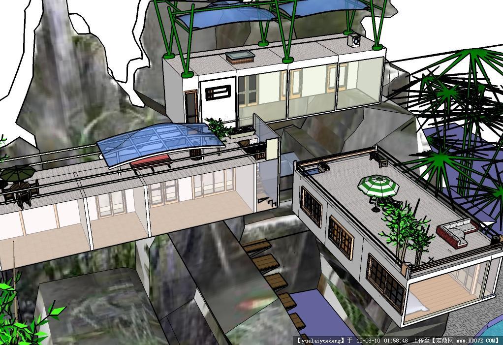 我的海边别墅SU别墅()电暖气能模型加水用图片