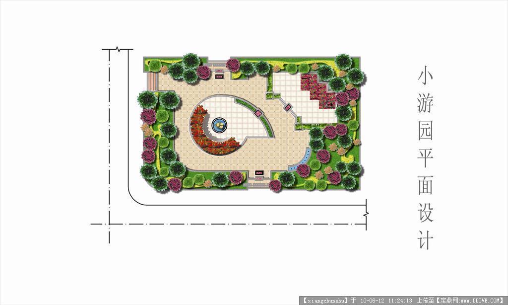 小游园平面设计psd方案图的下载地址