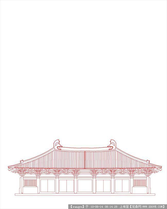 五台山佛光寺建筑立面图