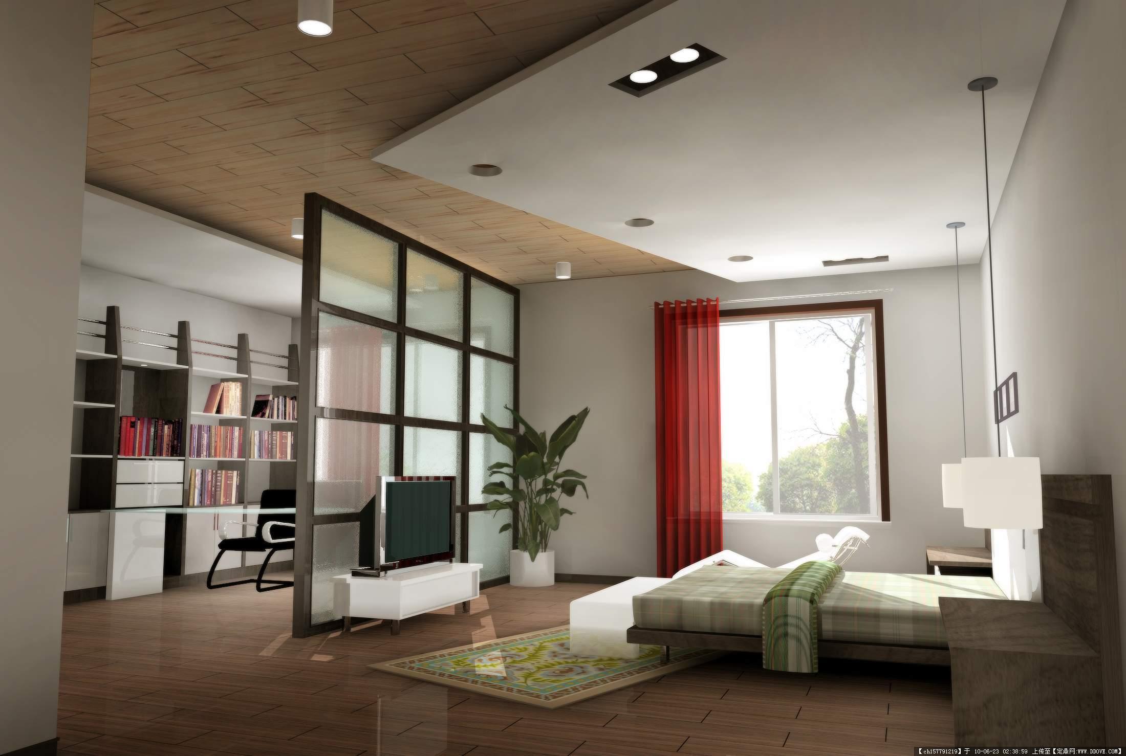 果图,住宅样板,室内装饰