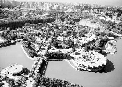 北京游乐园俯视图