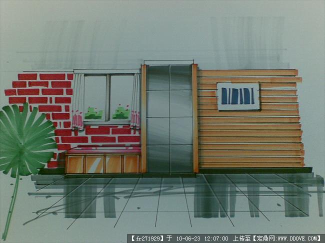 建筑立面效果手绘练习的下载地址,室内