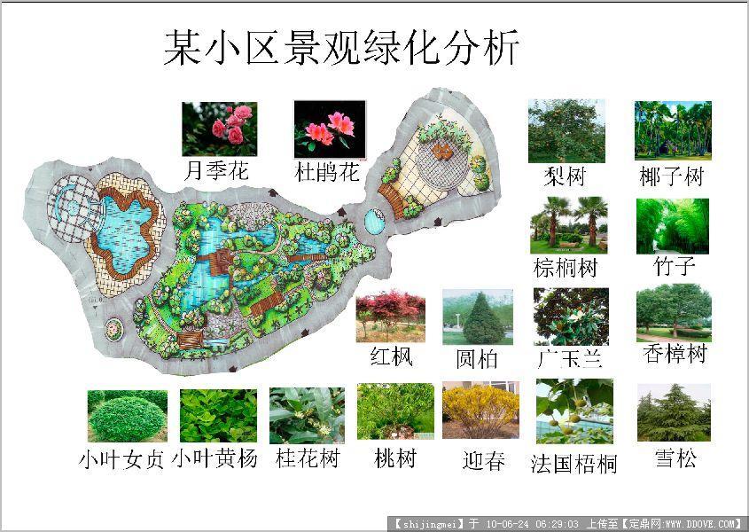 小区景观设计图片欣赏-绿化分析.jpg 原始尺寸:845 * 600