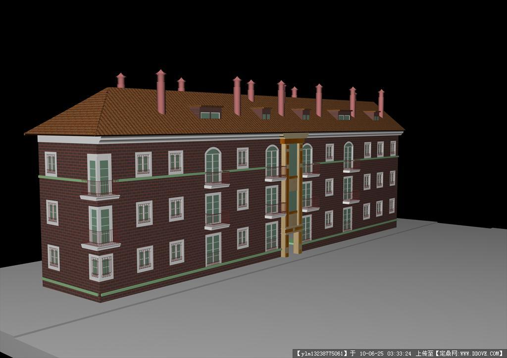三维房子建筑手绘图纸