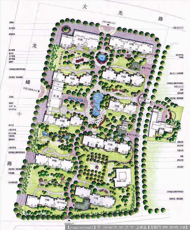 居住区景观平面图的图片浏览,园林方案设计,居住区,_.