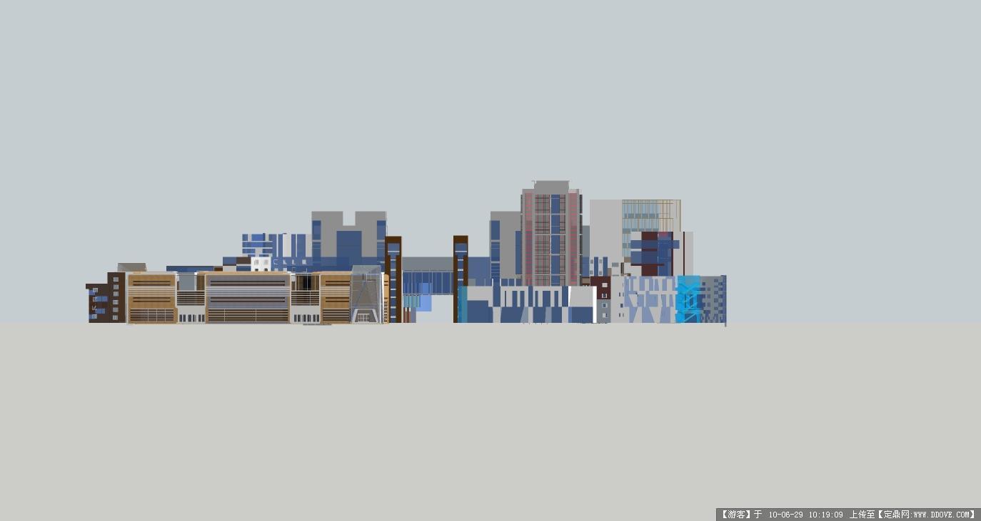 商业步行街设计sketch up 效果图一套图片