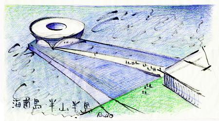 长方形公园设计手绘图