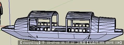乌篷船sketchup模型的下载地址,sketchup草图大师模型