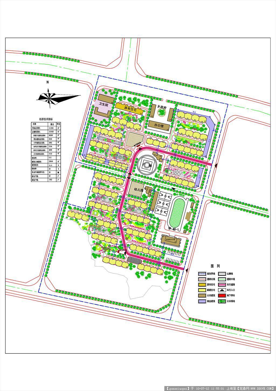 实用cad小区规划设计(有指标)