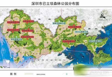 南山公园景区地图