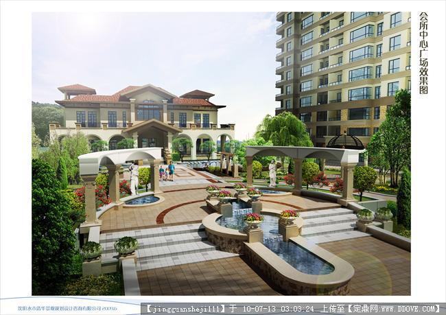 辽宁某小区景观设计的下载地址,园林项目案例,居住区