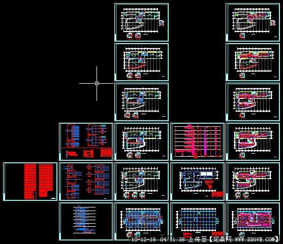 程序图纸v程序电气击双cad无厂房图纸图片