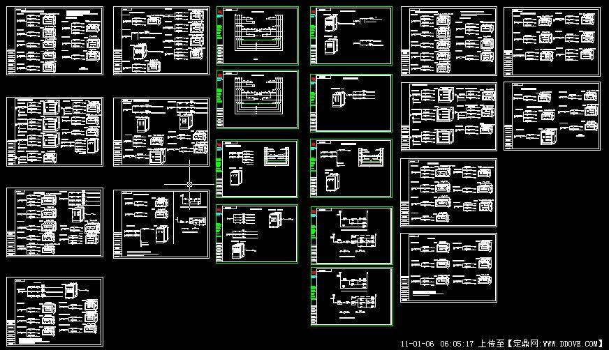 某厂房双电源一二次原理图