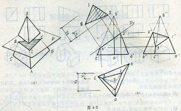 三棱锥正方体组合素描画展示