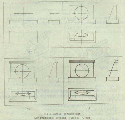工程制图组合体的三视图