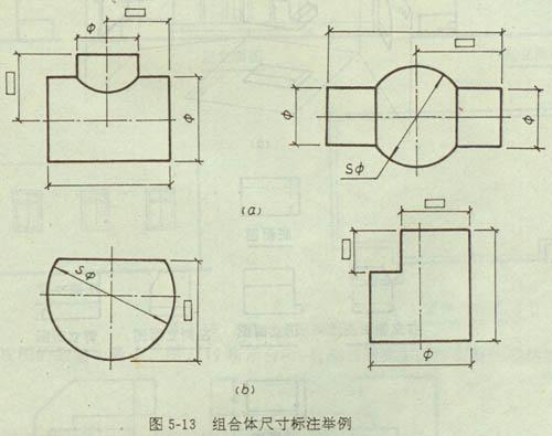 工程制图组合体的尺寸标注