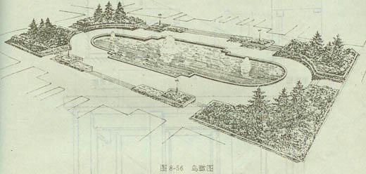 鸟瞰图常用于绘制建筑群,园林广场,公园总平面,此时视点可取得很高