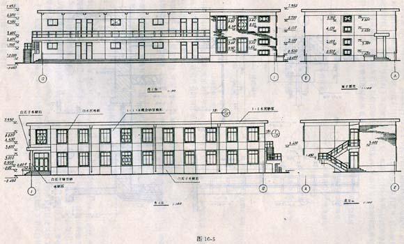 园林建筑施工图图片