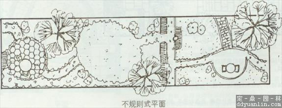 简明长方形庭园