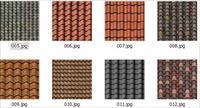 8種屋面瓦的材質貼圖素材