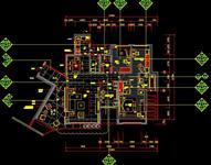 梁志天深圳樣板房CAD施工圖紙