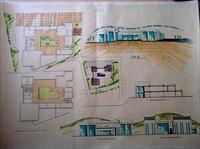 建筑单体快题设计手绘图片