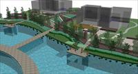 湖面堤岸设计